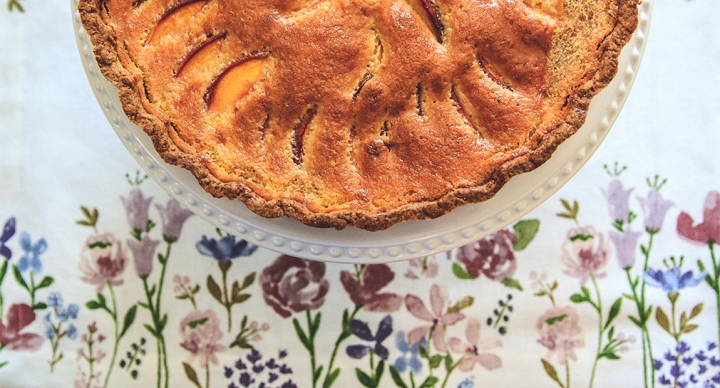 Peach & Frangipane Tart with Cardamom Crust